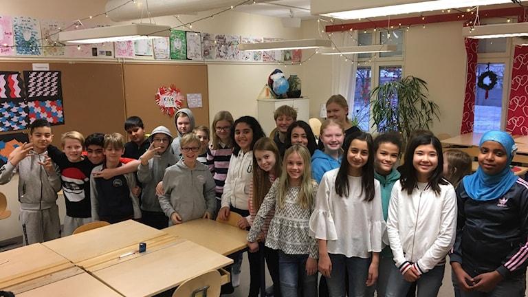 Klass 5A på Östra Stenhagenskolan.