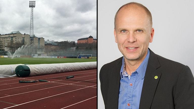 Studenternas IP och kommunalrådet Rickard Malmström (MP).
