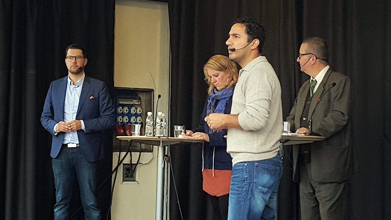 Jimmie Åkesson & Ardalan Shekarabi på Vaksala torg