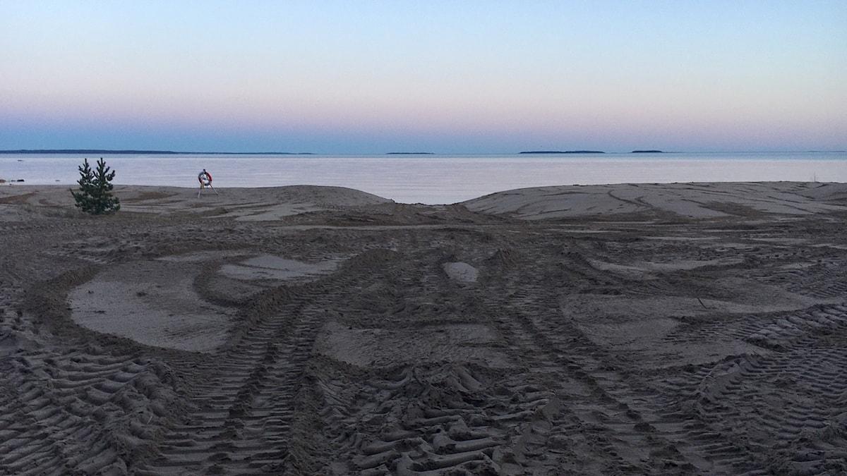 Sandstrand i Skutskär.