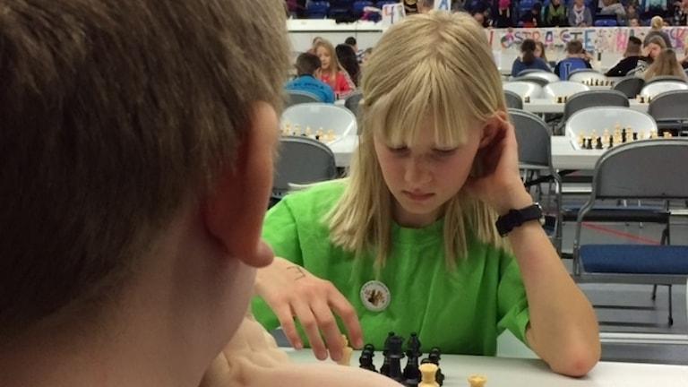 Disa Landgren Nilsson gillar att man får tänka mycket i schack.
