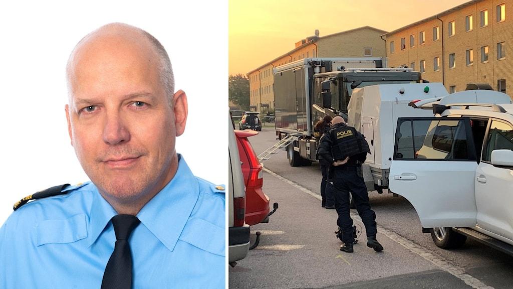 Polisens presstalesperons. Nationella bombgruppen i Gränby.