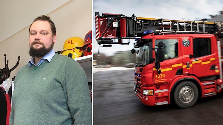 Peter Arnevall, chef på Storstockholms brandförsvar.