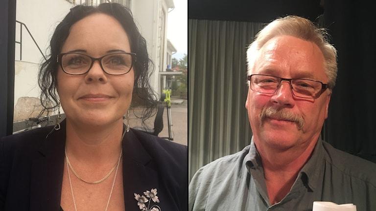 Marie Larsson (S) och Kurt Törnblom (SD) i Älvkarleby.
