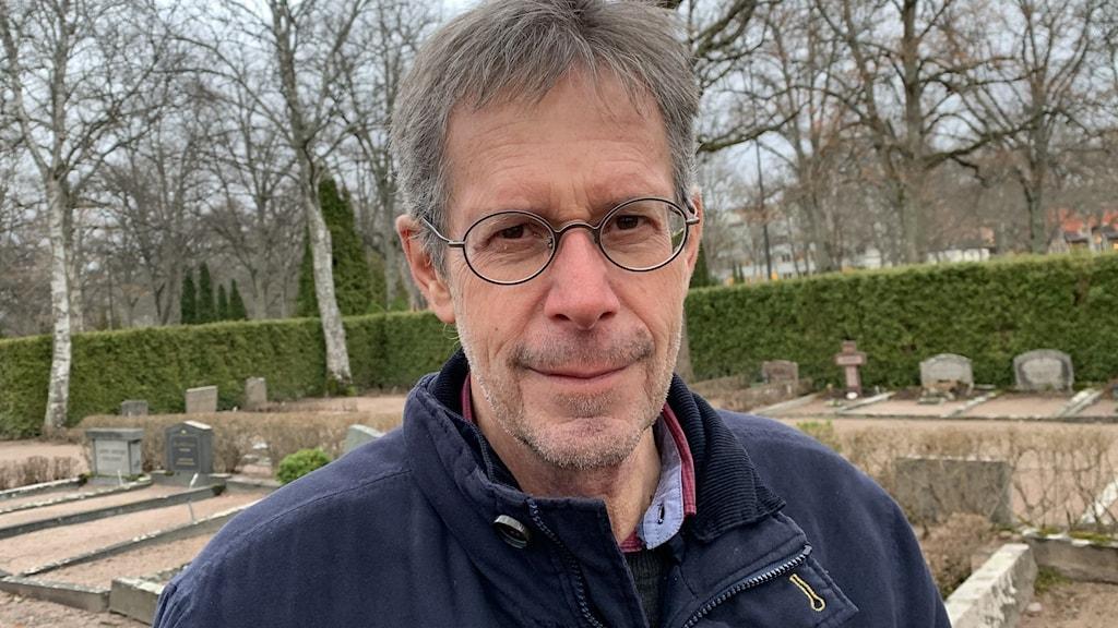 Tord Engström, chef för kyrkogårdsförvaltningen i Uppsala.