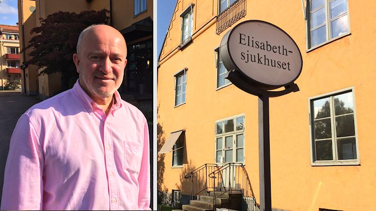 Bo Wihlborg som är chefläkare på Aleris sjukvård i Sverige, där Elisabethsjukhuset ingår.