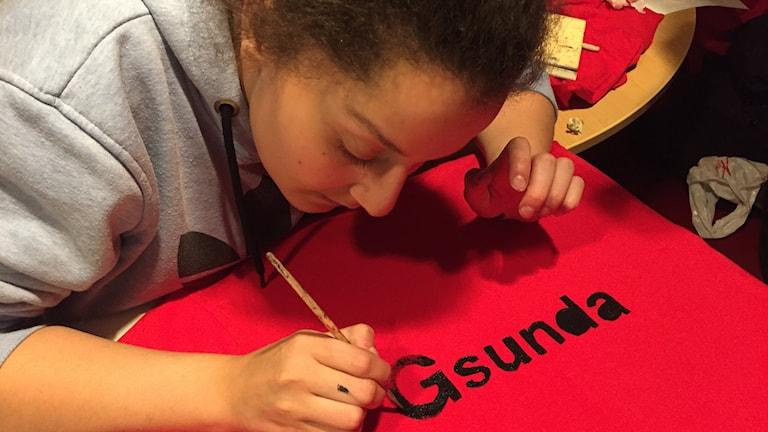 18-åriga Jassmin Elsaadi fyller i G:et i Gsunda