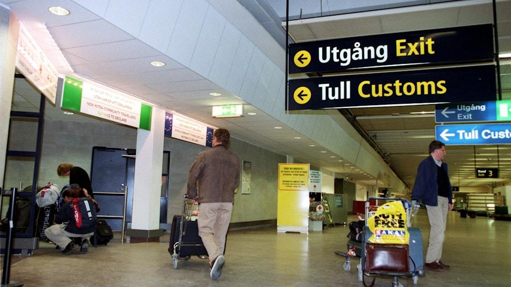 Tullen på Arlanda flygplats.
