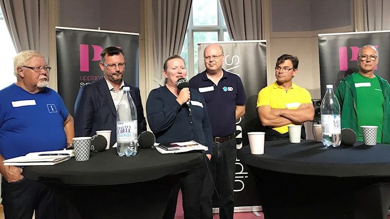 P4 Upplands debatt i Enköping.