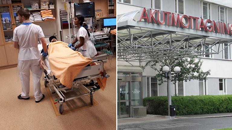 Övning på akutmottagningen på Akademiska sjukhuset i Uppsala