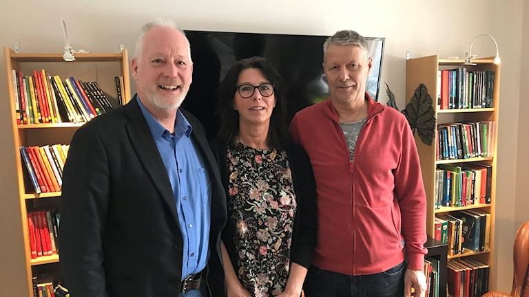 Jocke Lundin, kulturchef (Heby), Carina Ericsson (Minken) och Anders Pettersson (ordförande kultur och fritidsnämnden)