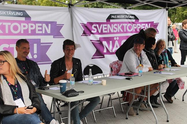 Christer Björkman och Michael Fannon redo för juryarbete.