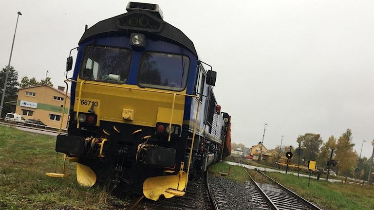 Godståg spårade ur i Gimo