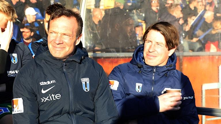 Sirius avgående tränare Kim Bergstrand och Thomas Lagerlöf.
