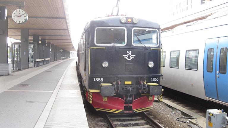 Tåg vid Uppsala station.