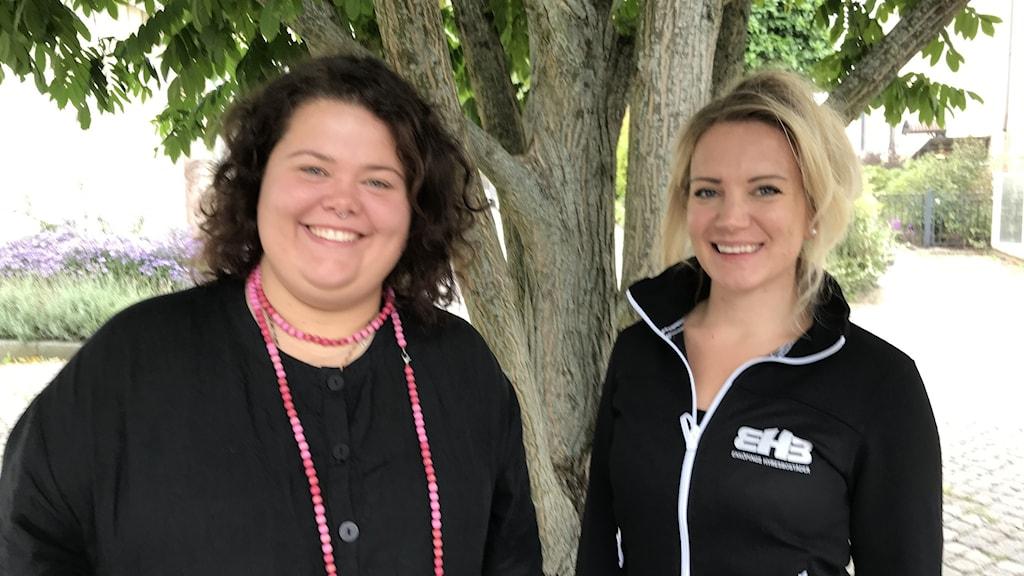 Kim Lindström från medborgarskolan och Christina Petrescu från Enköpings hyresbostäder är två av arrangörerna.