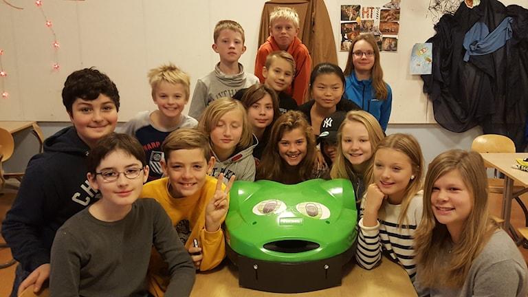 Klass 6 på Margarethaskolan i Knivsta. Foto: Mattias Persson/Sverige Radio