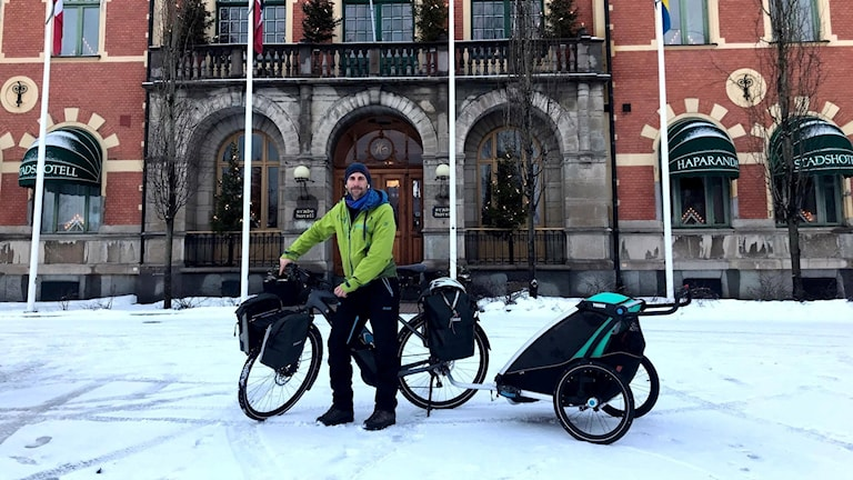 Sören Kjellqvist på sin resa genom Sverige.