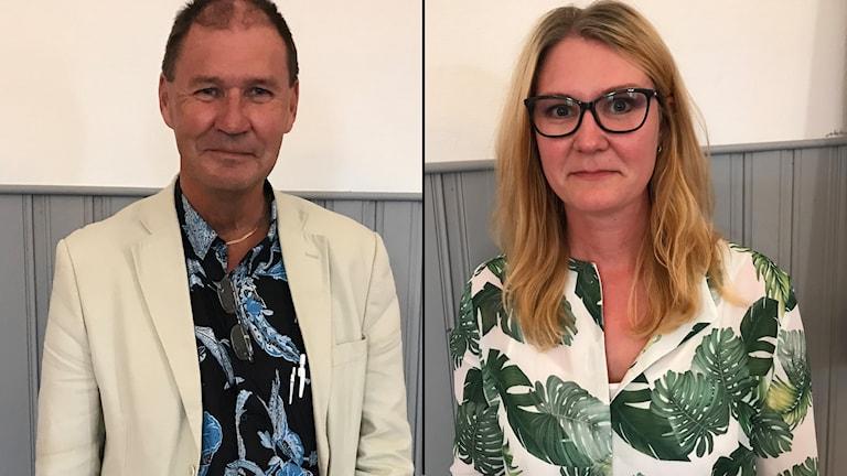 Bengt-Olov Eriksson (S) och Sara Sjödal (C).