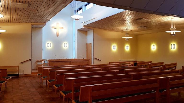 Nuvarande Laestadianska kyrkan i Ängby i Knivsta