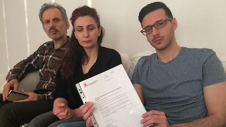 Hesam, Shahla och Mehdi Ahmadi tänker inte lämna Sverige.