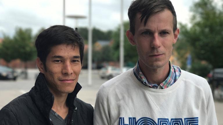 Safiollah Alizadeh och Alex Bengtsson.