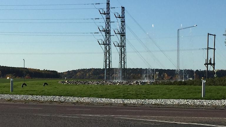 Ny fontän i Gnistarondellen i Uppsala