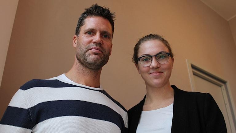 Fredrik Bernhardsson och Märta Säfström