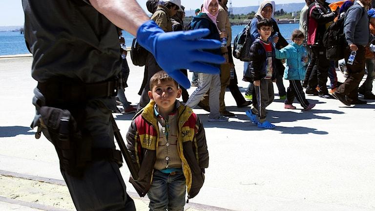 Flyktingar som räddats på medelhavet 2015
