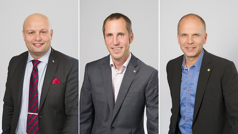 Mohamad Hassan (L), Erik Pelling (S), Rickard Malmström (MP).