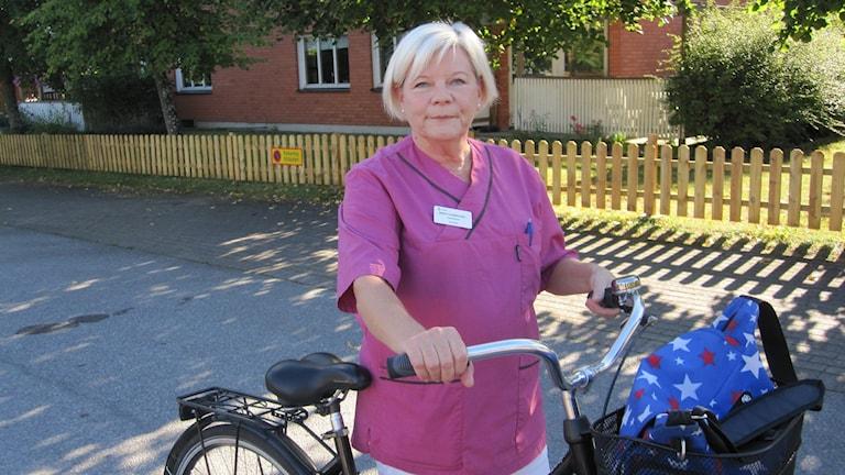 Birgitta Norrgård, jobbar i hemtjänst, foto Martin Hult