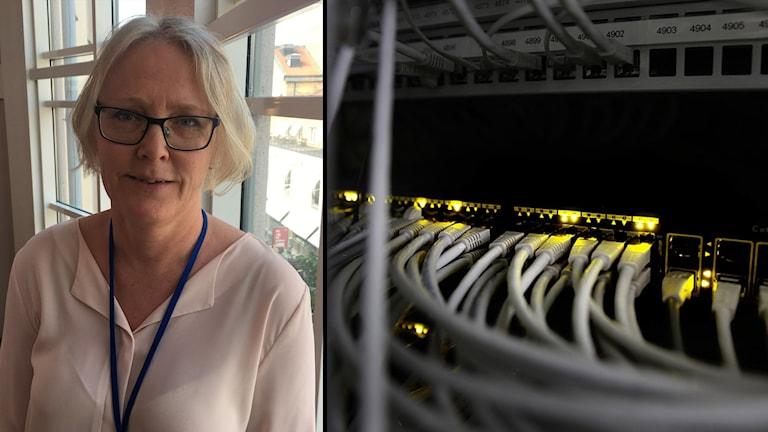 Annika Bengtsson, Region Uppsalas dataskyddsombud  / Nätverkskablar