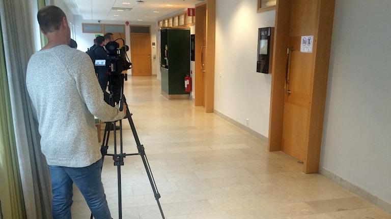 Media i Uppsala tingsrätt.