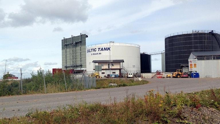 Utsläpp i Skutskär. Baltic Tank. Foto: Love Liman/Sveriges Radio