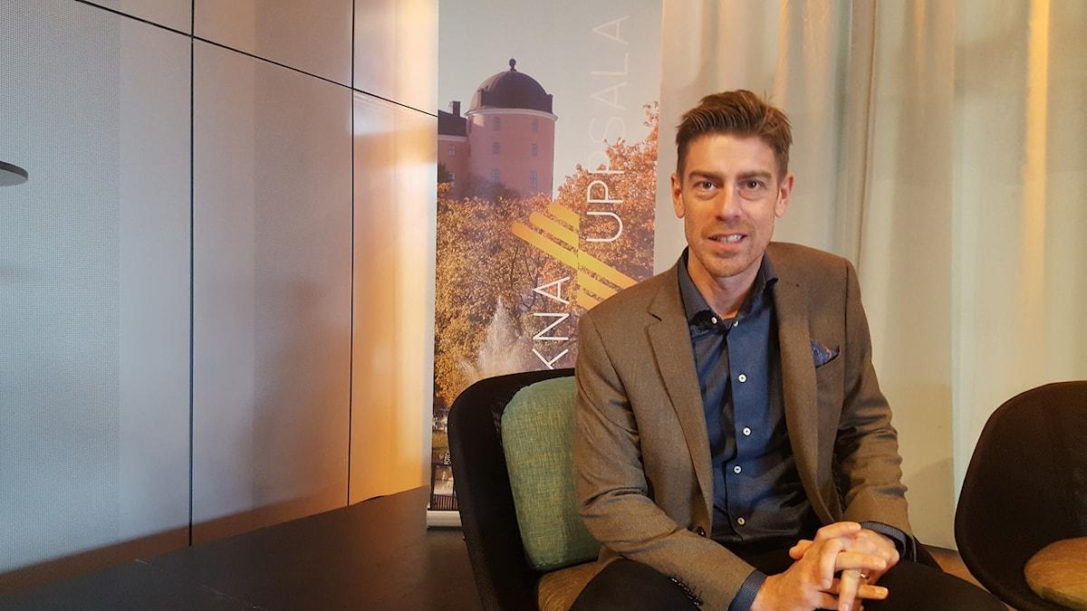 Kalle Sandhammar, ny publisher på Upsala Nya Tidning.