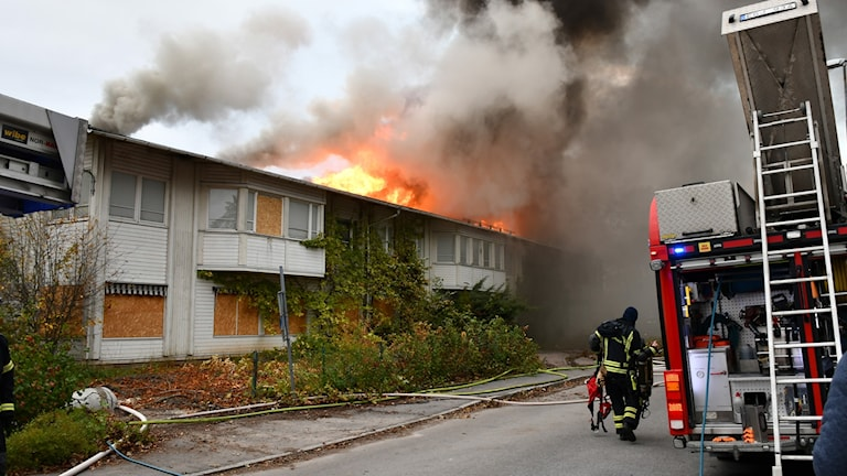 Brand i Årsta i Uppsala.