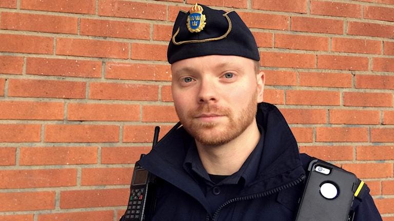 Alexander Wennerqvist är områdespolis i Enköping och Håbo.