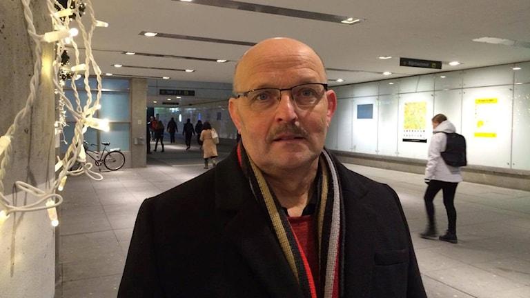 Per-Erik Johansson, projektledare med ansvar för gatubelysning vid Uppsala kommun.