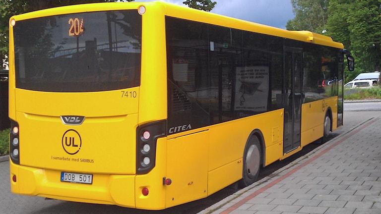 En UL-buss i Enköping. Foto: August Bergkvist/Sveriges Radio