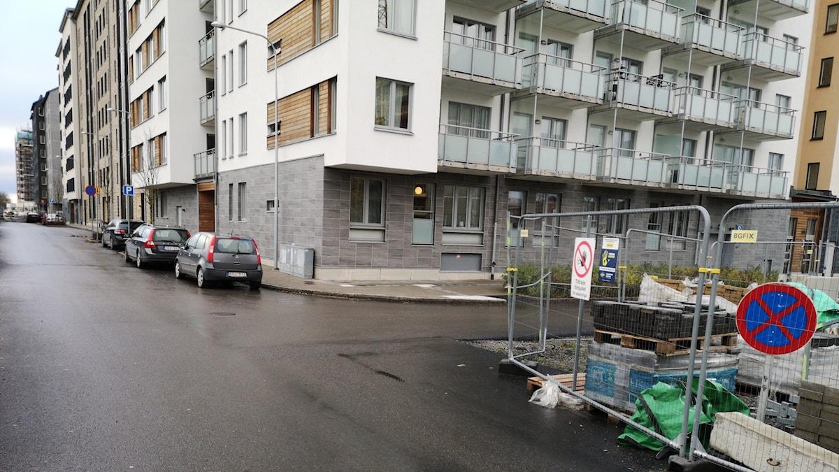 Gata nära Resecentrum i Uppsala.