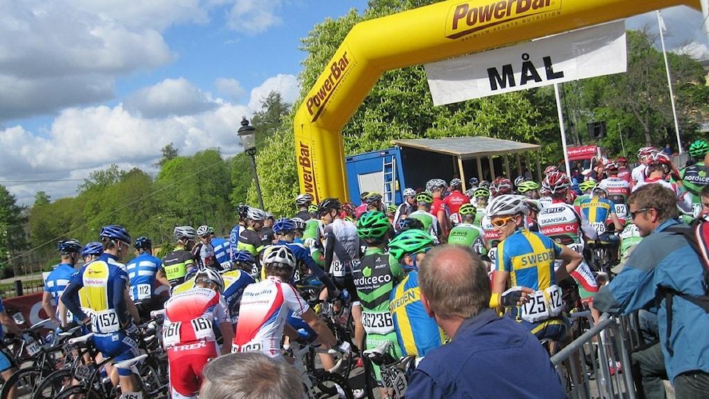 Drygt 140 cyklister ställde upp i det 103:e Skandisloppet i Uppsala. Foto: Kina Pohjanen/SR Uppland.
