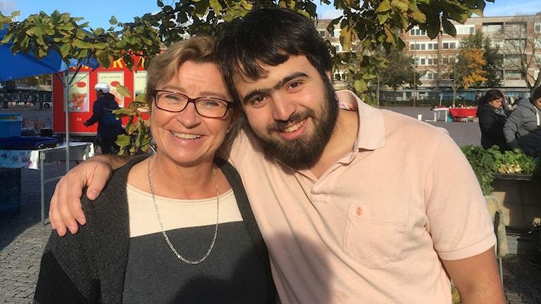 Anna Hedin och Firas Aljichi