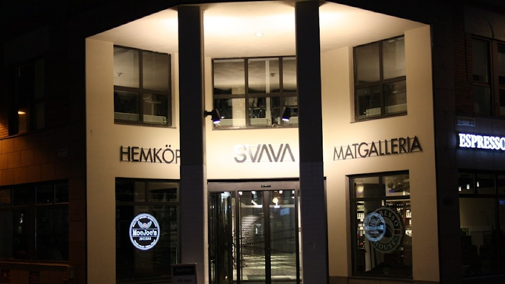 Foto på ingången till Svavagallerian.