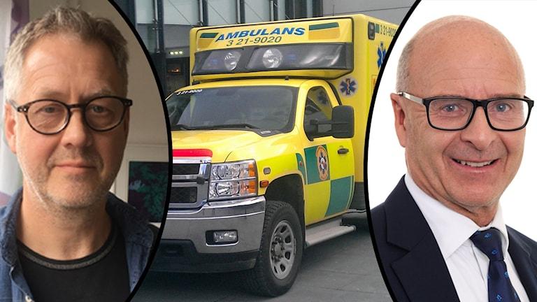 Hans Blomberg, Sjukvårdens larmcentral och Anders Klarström på SOS Alarm.