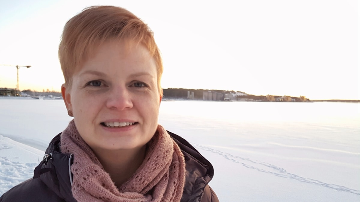 Lina Stoltz i Södra hamn i Luleå.