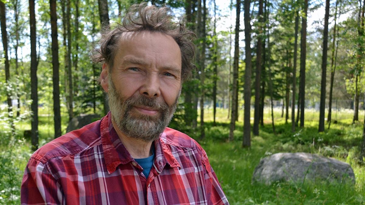 Mats Caldeborg, skulptör. Foto: Gunilla Nordlund, Sveriges Radio