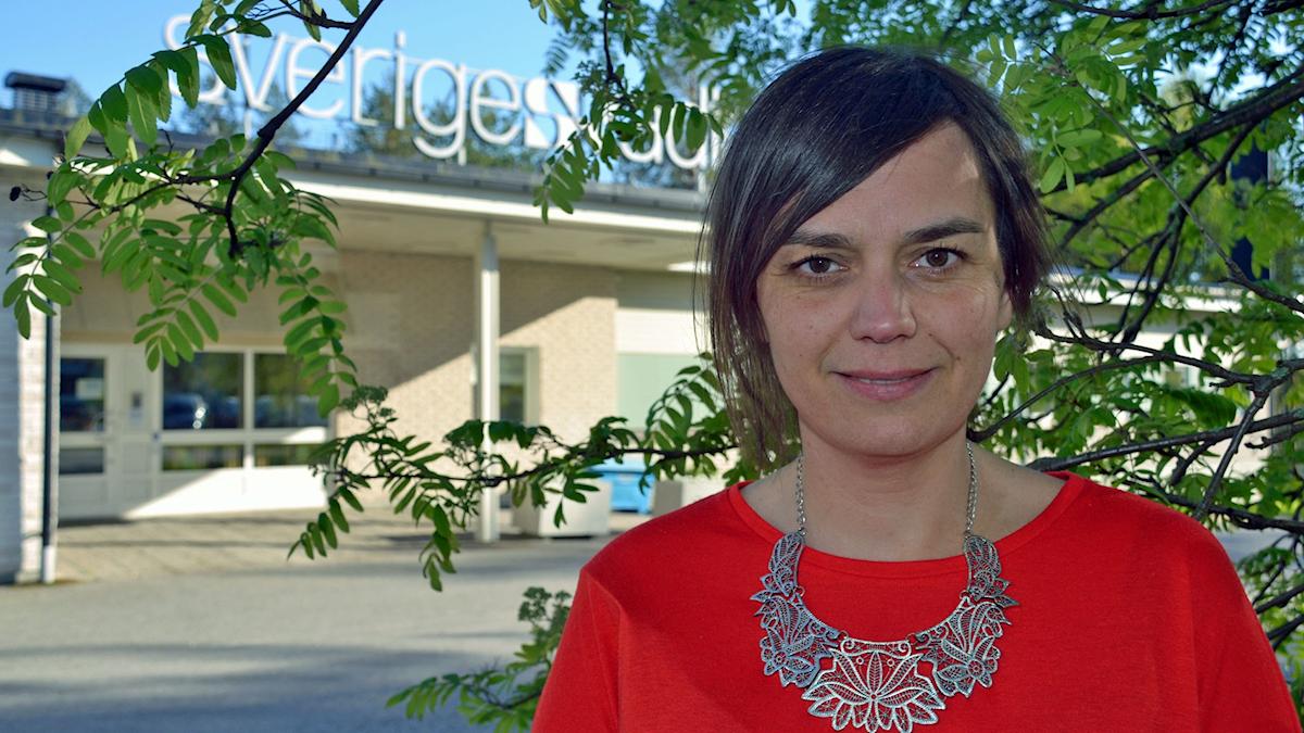 Ingela Wall. Foto: Gunilla Nordlund/ Sveriges Radio.