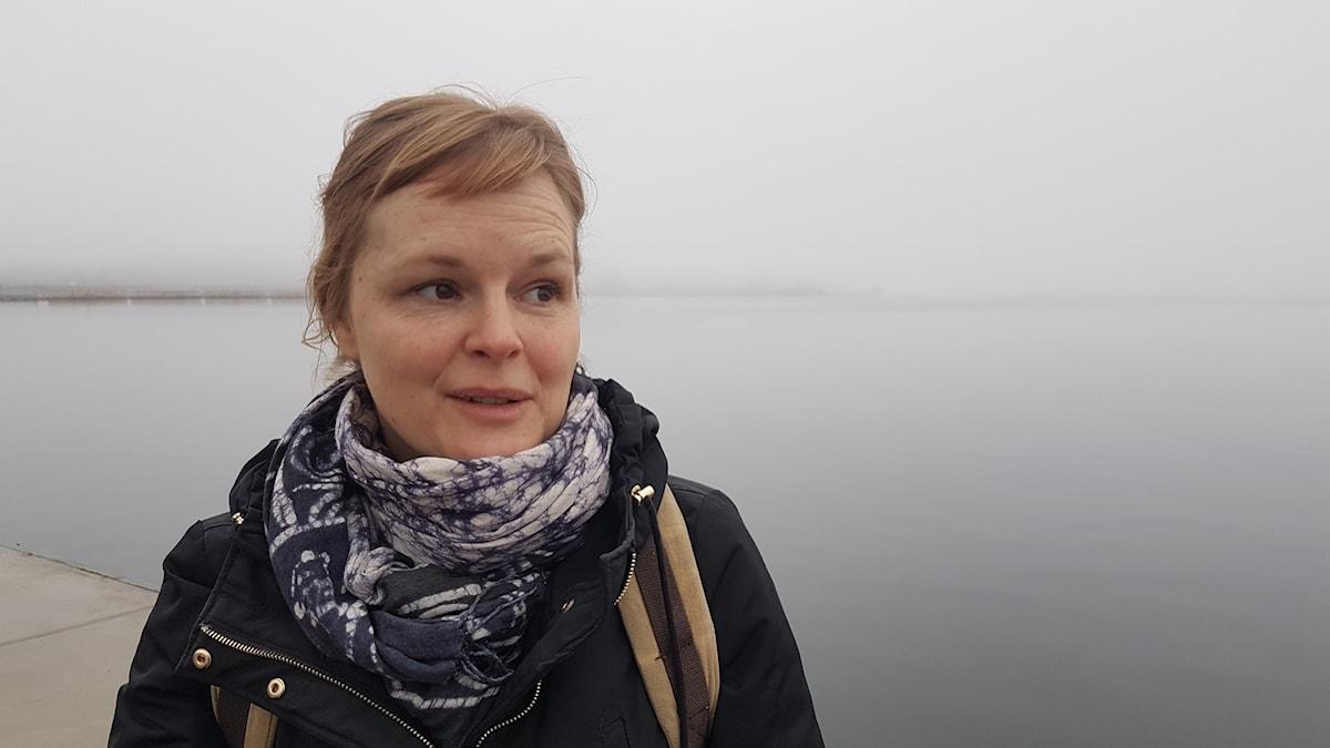 Martina Lundgren i Luleås Södra hamn