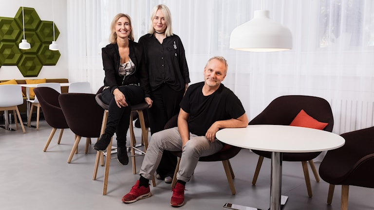 Musikredaktörer. Linda Nordeman, Mari Hesthammer, Germund Stenhag. Sveriges Radio.