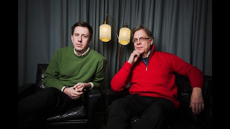 Människan och maskinen. Eric Schüldt och Per Johansson. Foto: Mattias Ahlm/Sveriges Radio